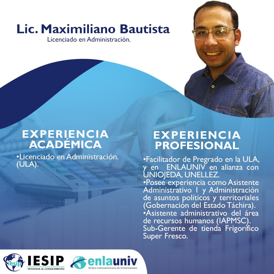 Lic Maximiliano Bautista