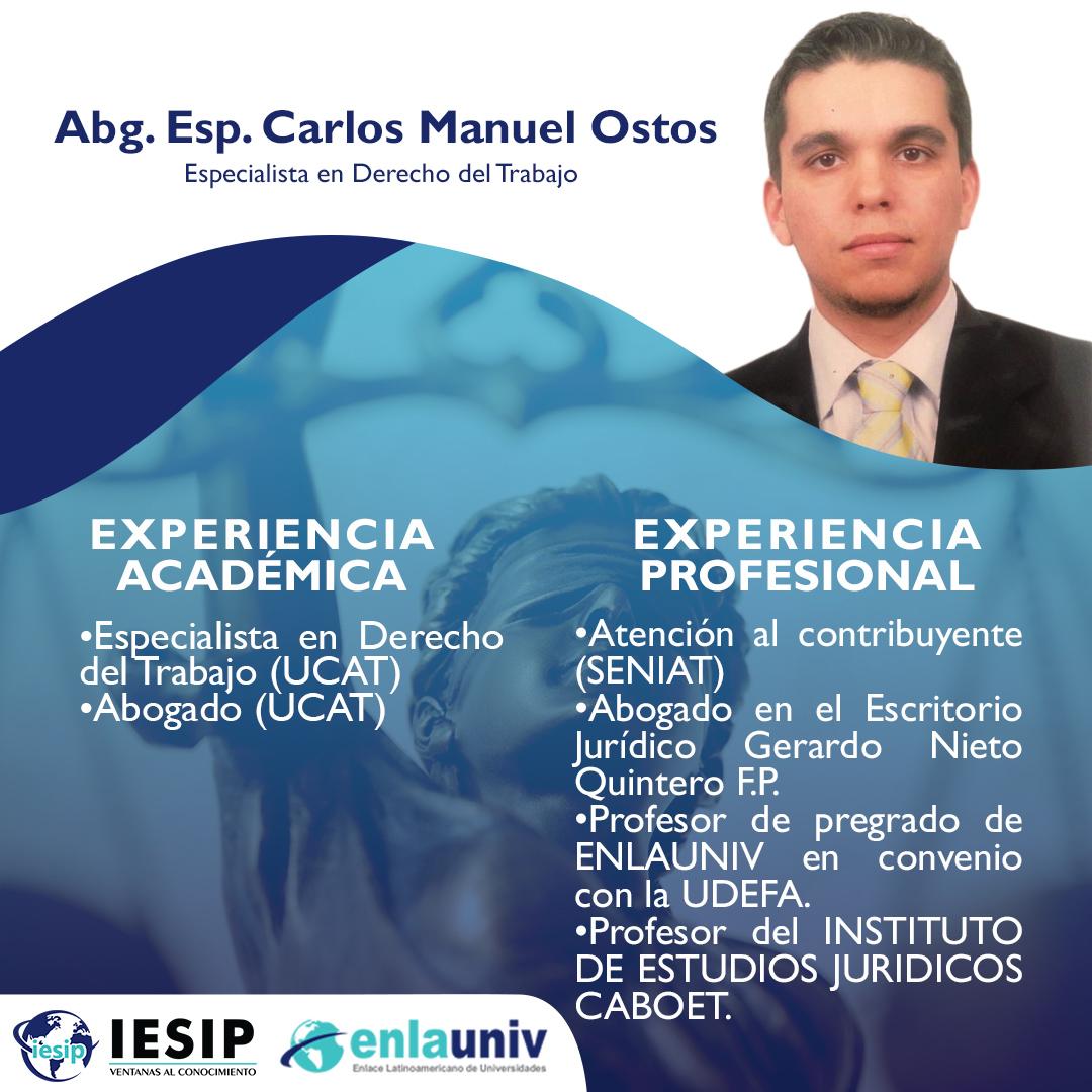 Abog Carlos Manuel Osto