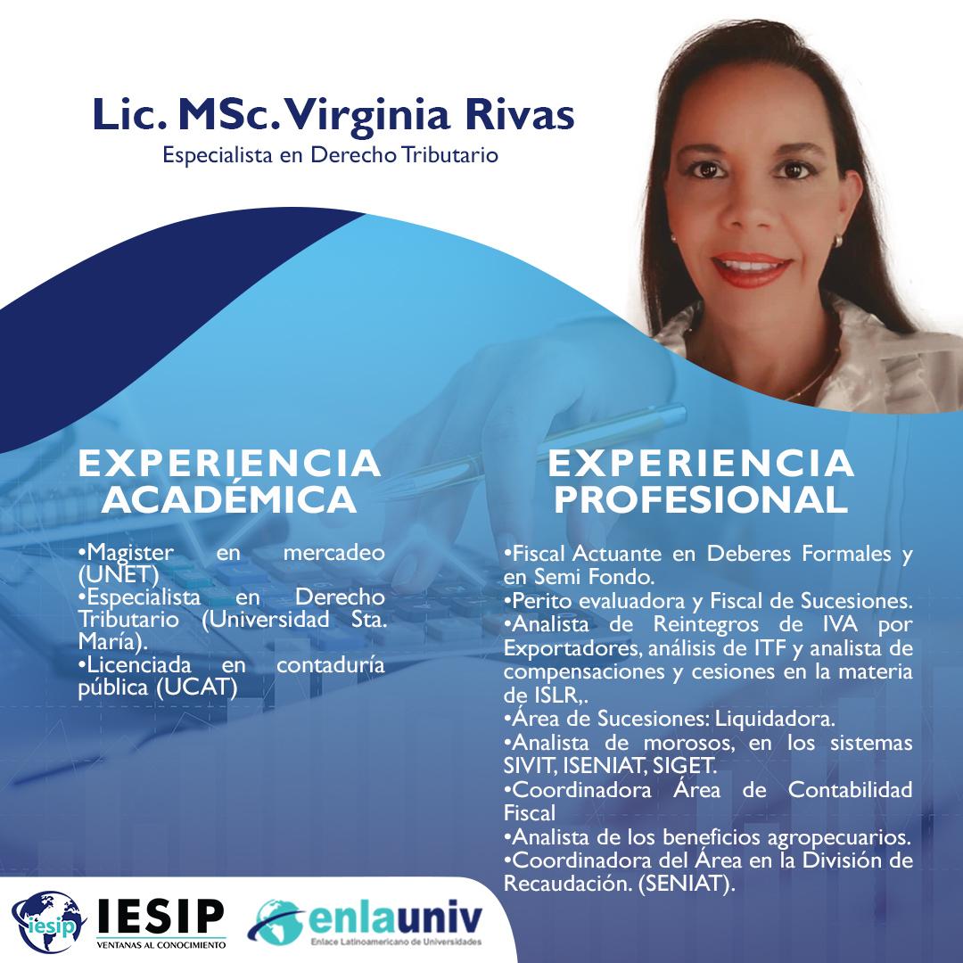 Lic Msc Virginia Rivas