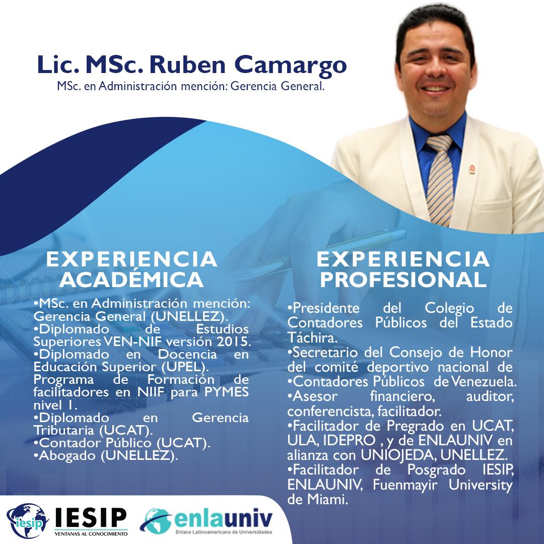 Lic. Msc Ruben Camargo