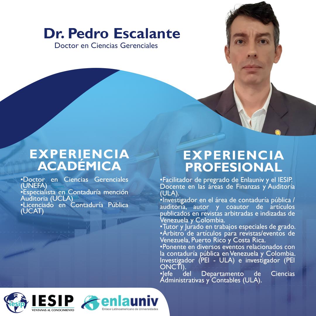 Dr Pedro Escalante