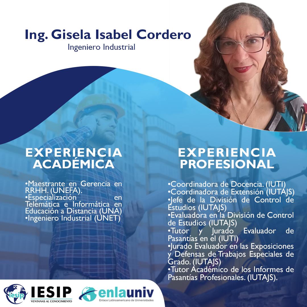 Ing Gisela Cordero