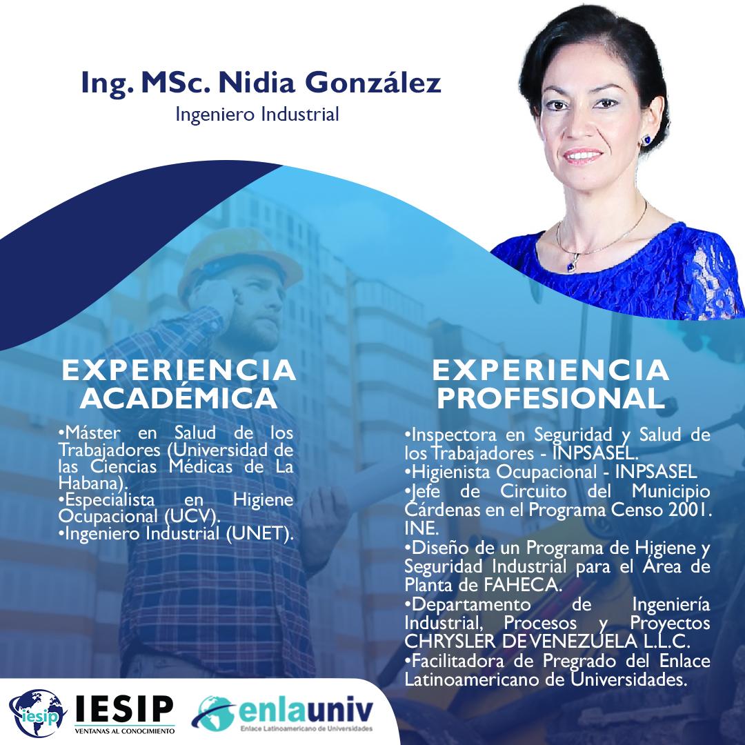 Ing MSc Nidia Gonzalez