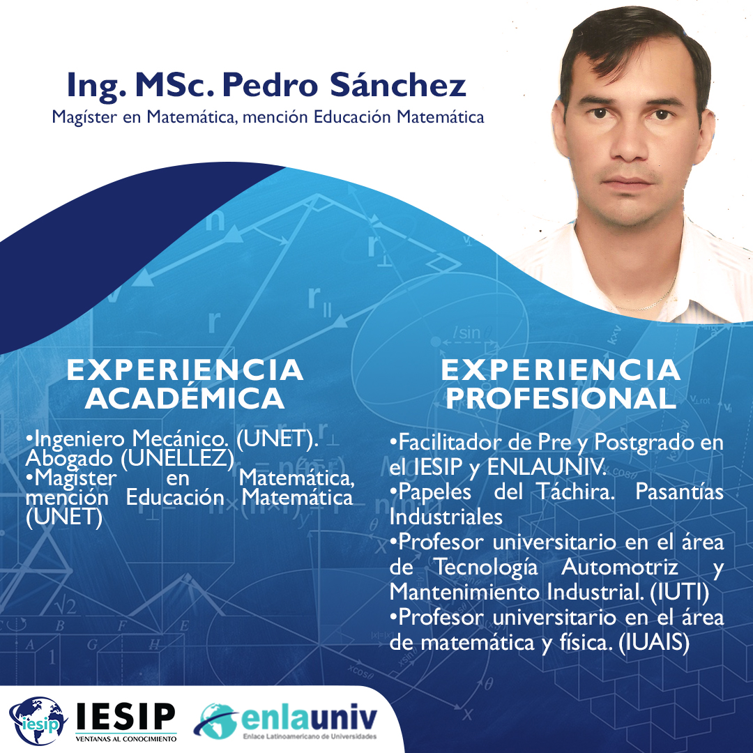 Ing MSc Pedro Sánchez